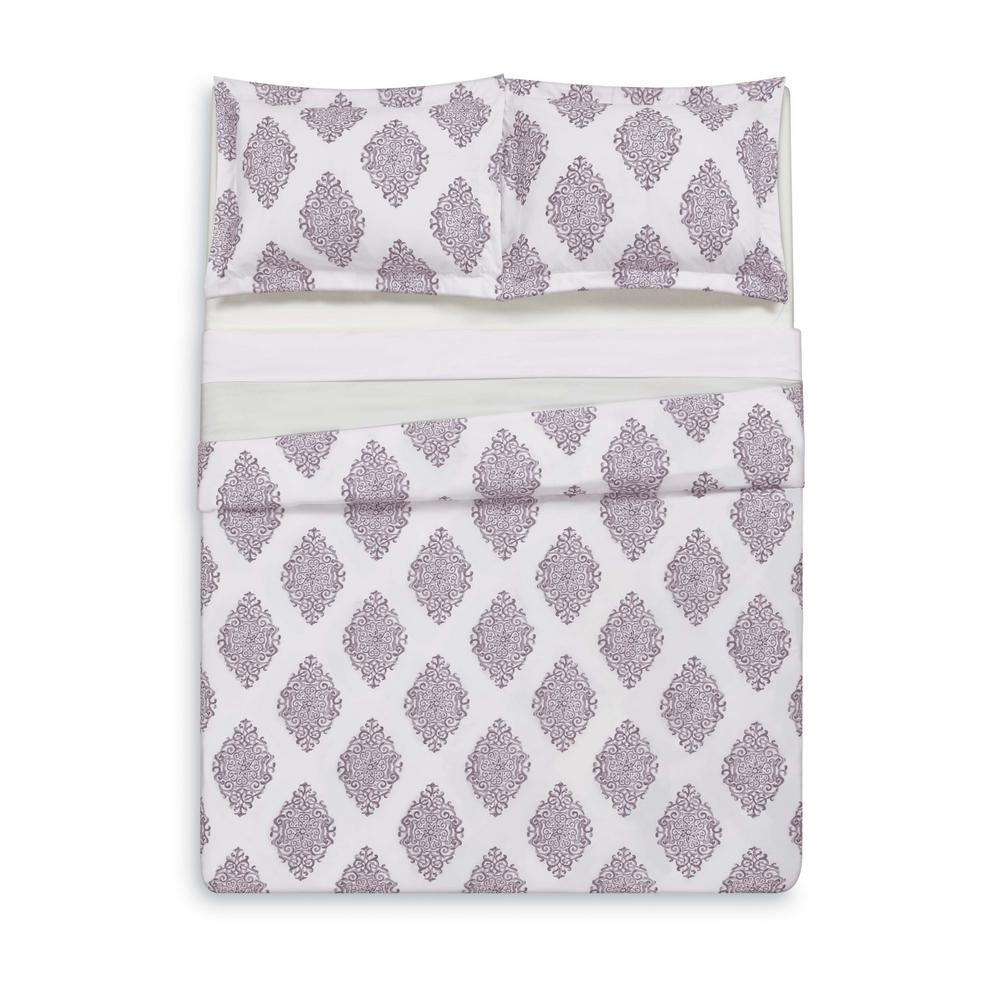 Annika Orchid Full/Queen Duvet Set