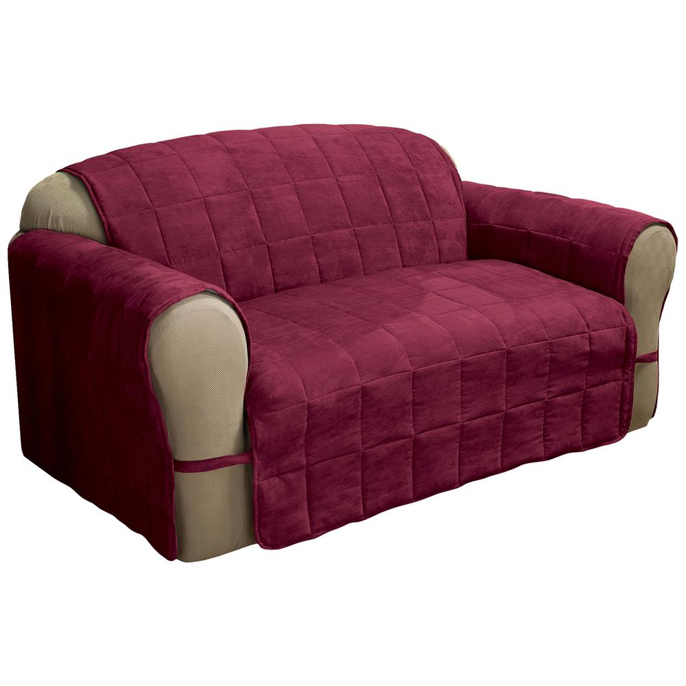 Burgundy Ultimate Faux Suede XL-Sofa Protector