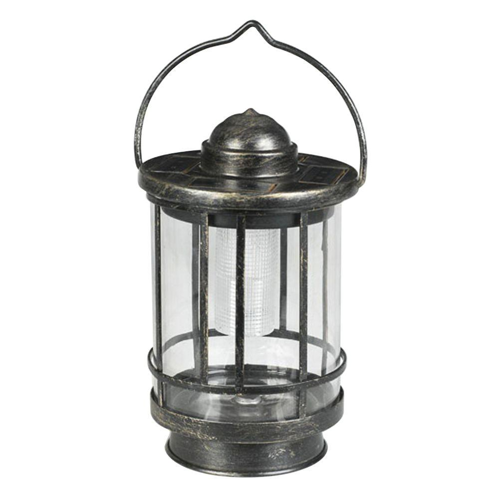Solar Garden Light Lantern: Duracell Solar Powered Outdoor LED Tabletop Lantern