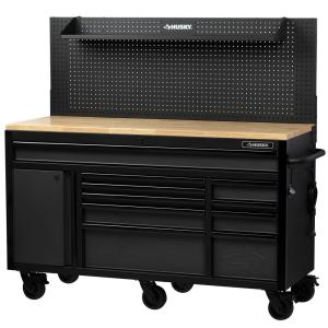 Husky 61 In W 23 In D 10 Drawer 1 Door Mobile Workbench