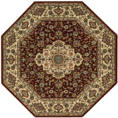 Persian Arts Neolithic Brick 8 ft. x 8 ft. Octagon Area Rug