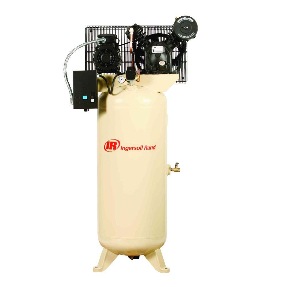 Ingersoll Rand Type 30 Reciprocating 60 Gal. 5 HP Electric 460-Volt 3 Phase Air Compressor