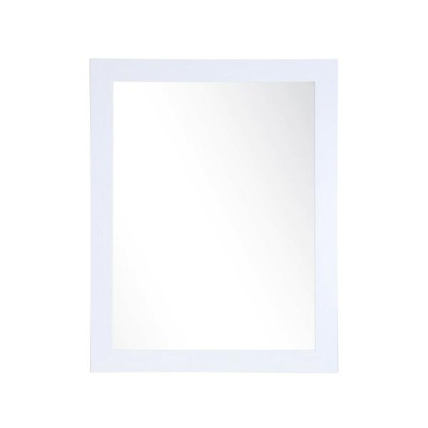 Large Rectangle Pearl White Modern Mirror (55 in. H x 32 in. W)