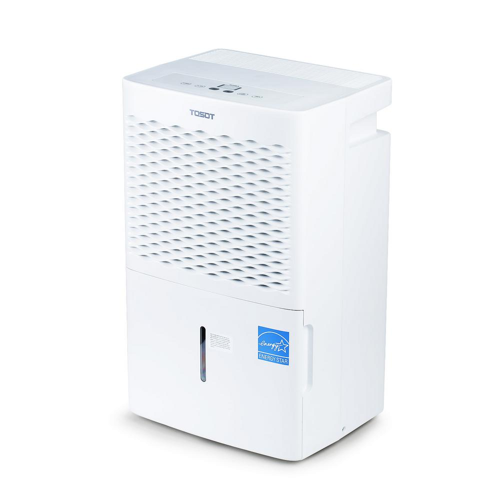 Tosot 30 Pint 1500 Sq Ft With Bucket Portable Energy Star Dehumidifier For Basements Large Rooms And Whole House