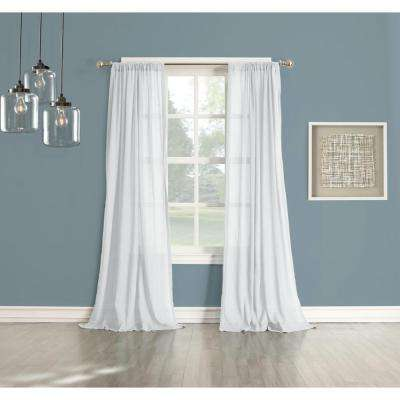 Sheer No. 918 Millennial Henderson White Cotton Gauze Curtain Panel