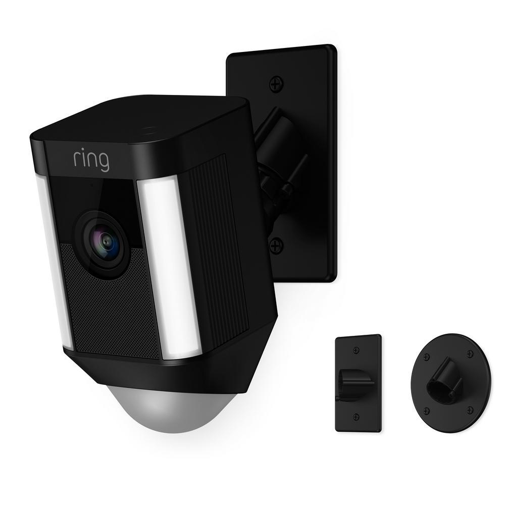 Spotlight Cam Mount Outdoor Smart Surveillance Camera, Black