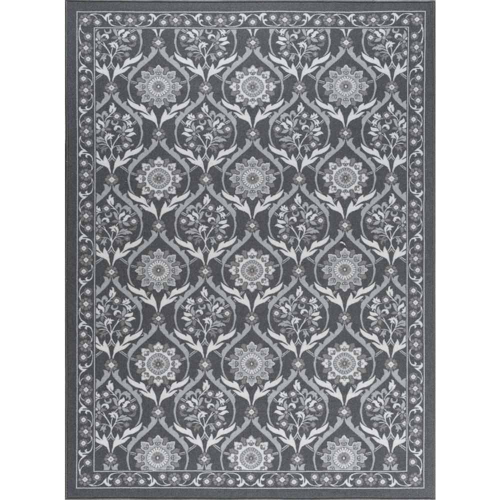 Majesty Charcoal 5 ft. x 7 ft. Transitional Area Rug