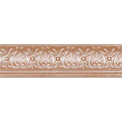 6-5/8 in. x 4 ft. x 6-1/4 in. Satin Copper Nail-up/Direct Application Tin Ceiling Cornice (6-Pack)