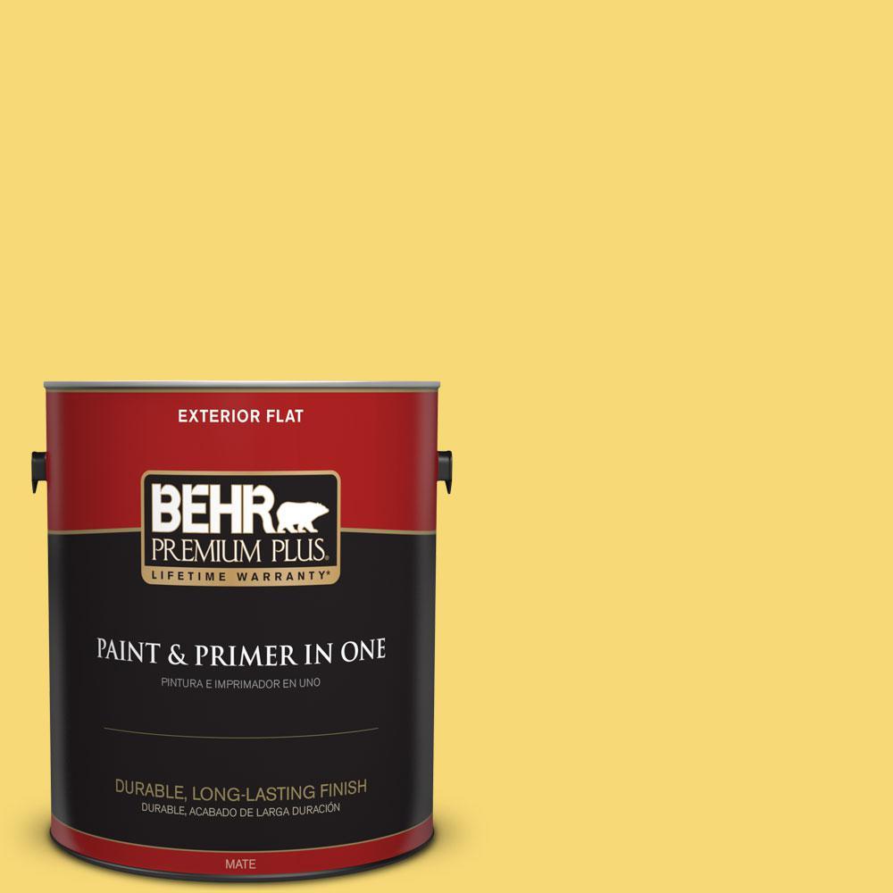 BEHR Premium Plus 1-gal. #P310-5 Solar Energy Flat Exterior Paint