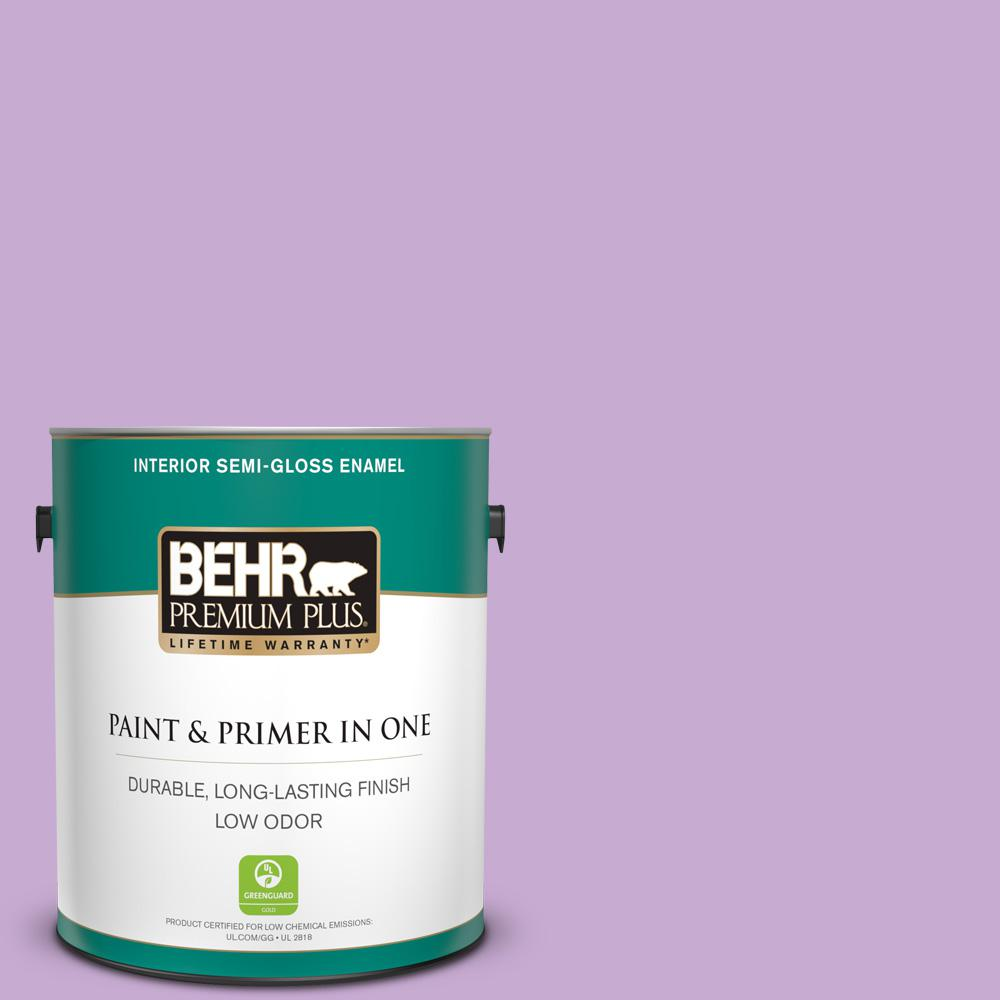 Reviews For Behr Premium Plus 1 Gal 660b 4 Pale Orchid Semi Gloss Enamel Low Odor Interior Paint And Primer In One 340001 The Home Depot