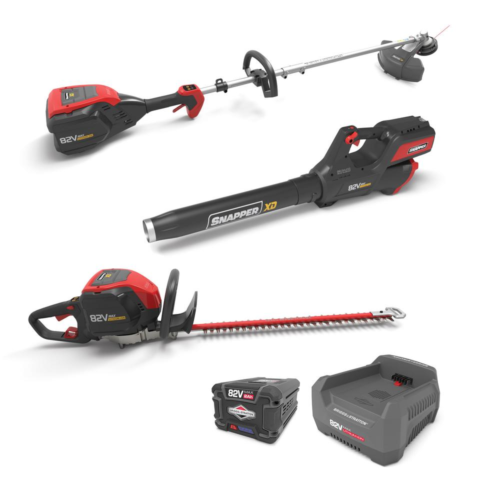 XD 82V Max lithium ion Yard Bundle includes Blower, String Trimer,