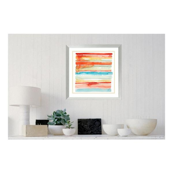 """Amanti Art 24 in. H x 24 in. W """"Connected Lines I"""" by """" Grace Popp"""" Framed Print Wall Art"""