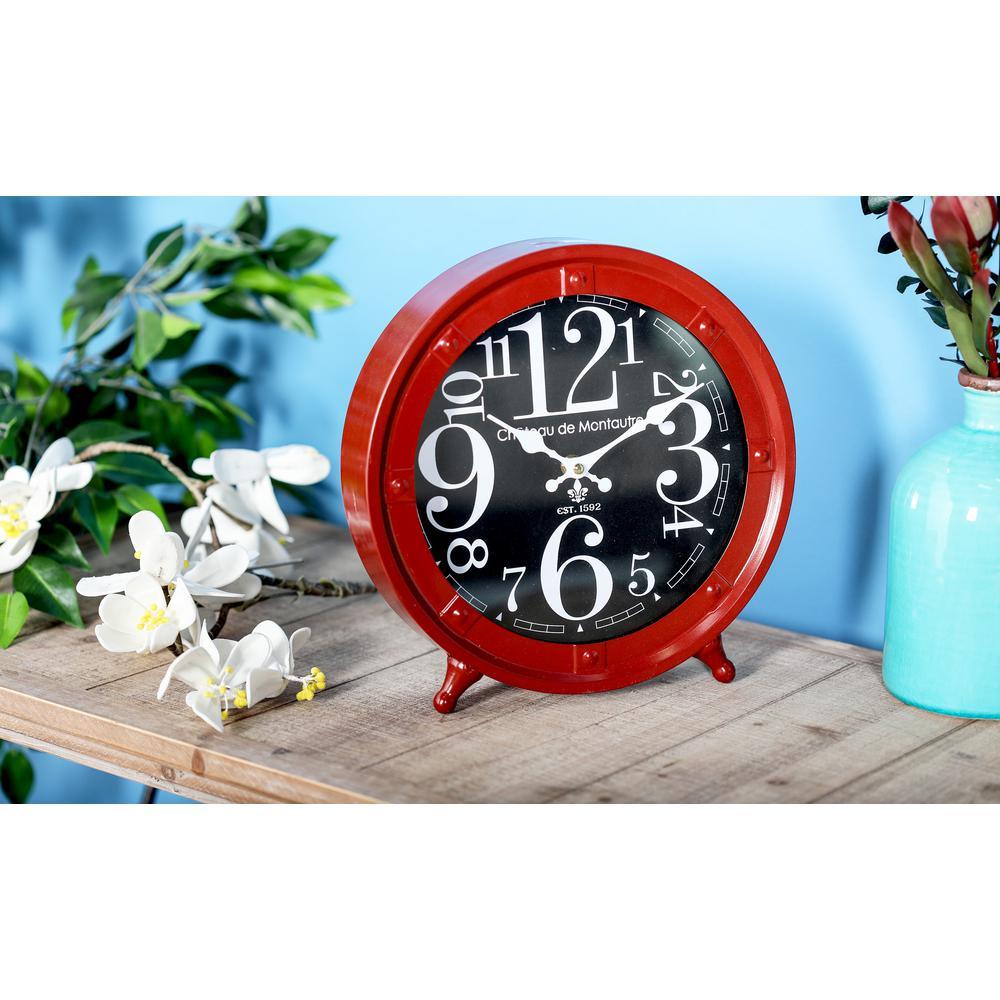 Multi-Colored Contemporary Table Clocks (Set of 3)