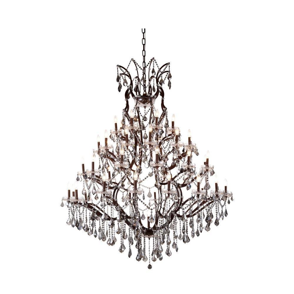 Elegant Lighting Elena 49-Light Rustic Intent Royal Cut Silver Shade Grey Pendant