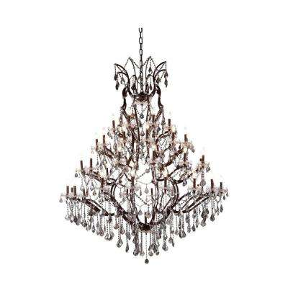 Elena 49-Light Rustic Intent Royal Cut Silver Shade Grey Pendant