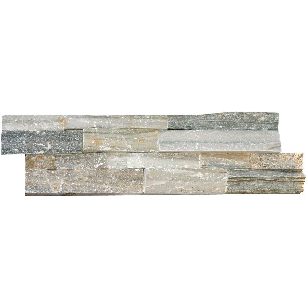 MSI Sierra Blue Ledger Panel 6 in. x 24 in. Natural Quartzite Wall Tile (10 cases / 40 sq. ft. / pallet)