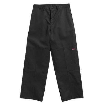 Loose Fit 38 in. x 29 in. Polyester Double Knee Multi-Use Pocket Pant Black