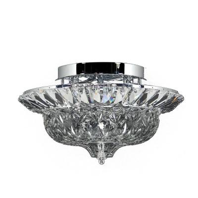 Spontaneous 8 in. Polished Chrome Flush Mount/Semi Flush Mount with Solid Crystal Shade