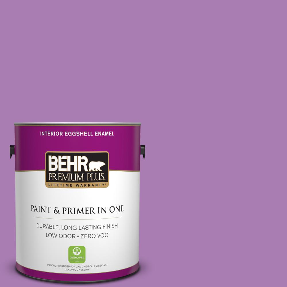 BEHR Premium Plus 1-gal. #P100-5 I Heart Potion Eggshell Enamel Interior Paint
