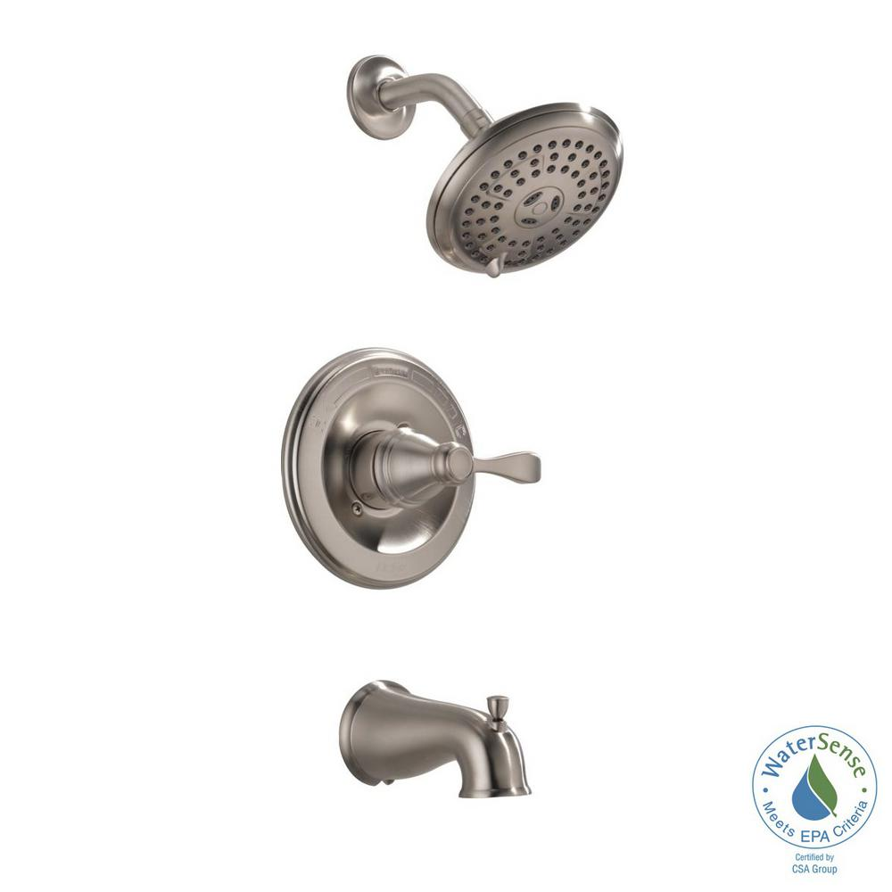 Porter Single-Handle 3-Spray Tub and Shower Faucet in Brushed Nickel (Valve