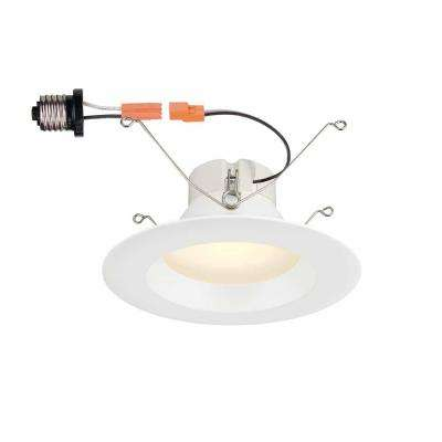 Commercial electric led lighting the home depot white integrated led high lumen recessed trim aloadofball Image collections