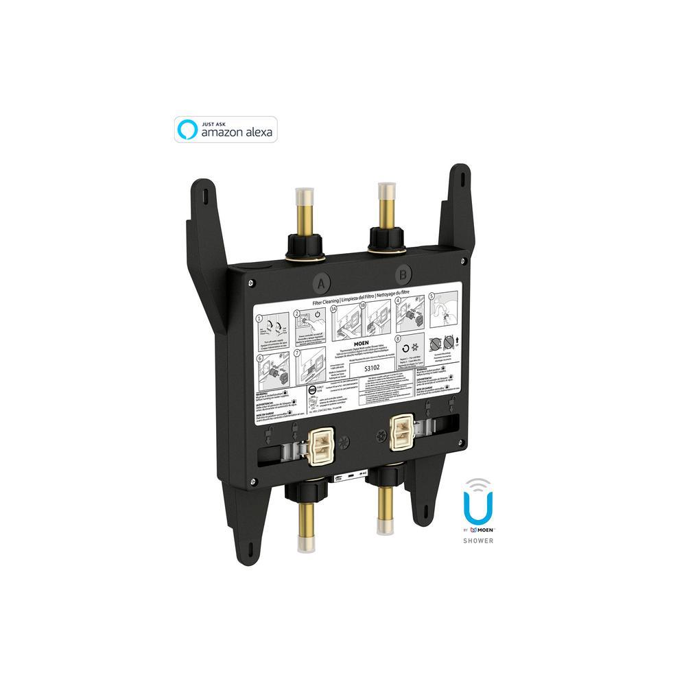 MOEN U By 2 Outlet Digital Thermostatic Shower Valve