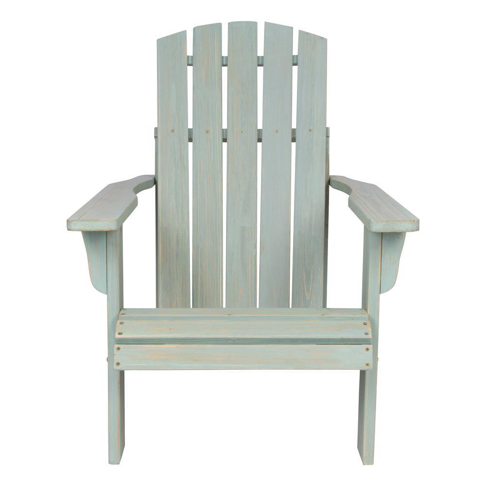 Lakewood Cedar Wood Rustic Adirondack Chair - Dutch Blue