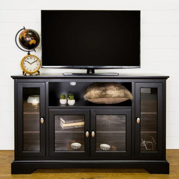 Walker Edison Furniture Company Black Entertainment Center HD52C32BL
