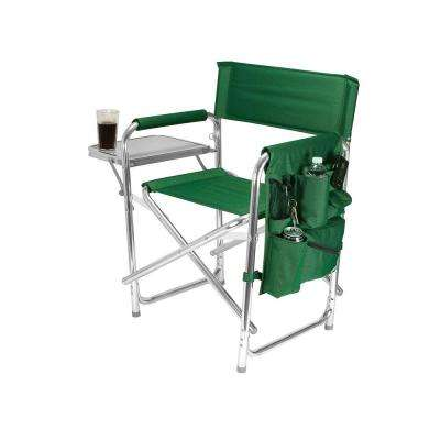 Green Sports Portable Folding Patio Chair in Hunter