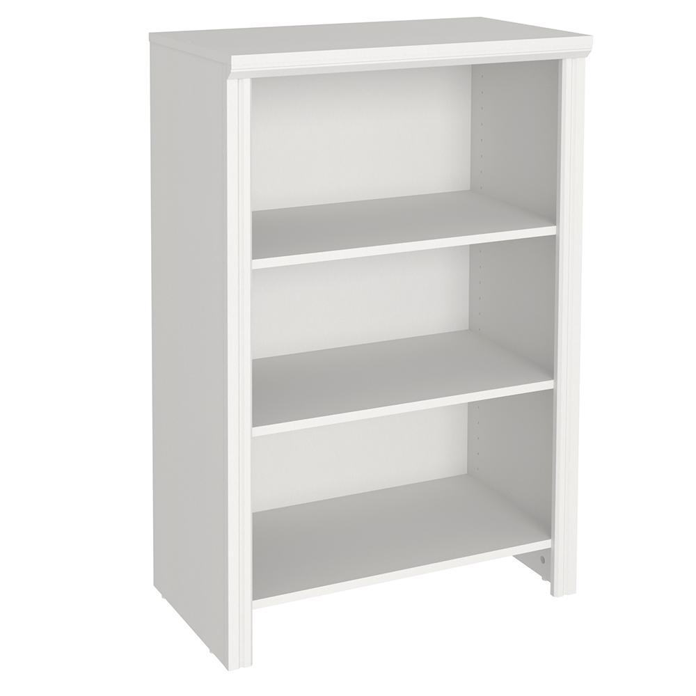 Impressions 14.58 in. x 25 in. White Laminate 4-Shelf Organizer