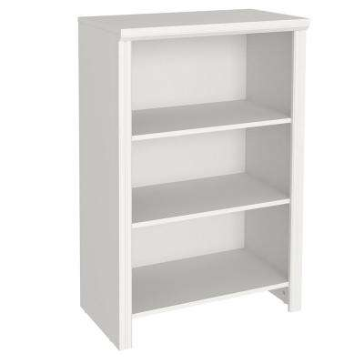 Impressions 14.58 in. x 25 in. White Laminate 4-Shelf Organizer
