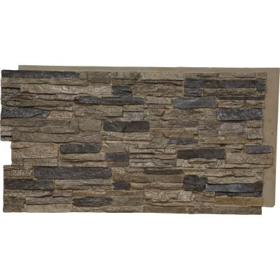 45-3/4 in. x 24-1/2 in. Canyon Ridge Stacked Stone Stonewall Faux Stone Siding Panel