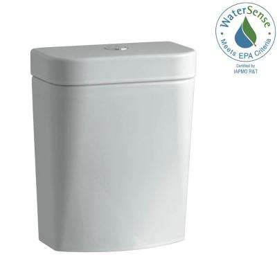 Persuade Circ 1.28 GPF Single Flush Toilet Tank Only in Ice Grey
