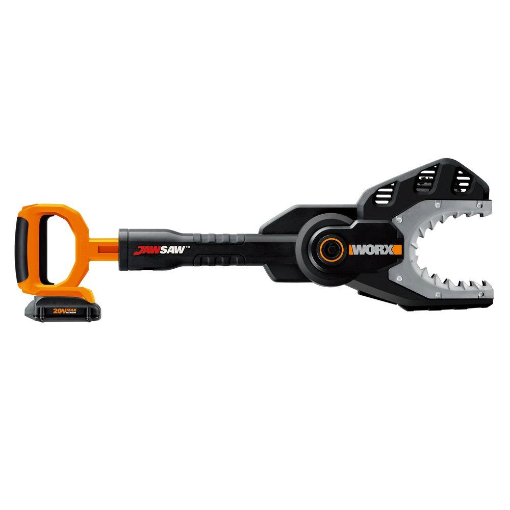 Worx 6 in. 20-Volt Lithium-Ion Cordless Jaw Chainsaw