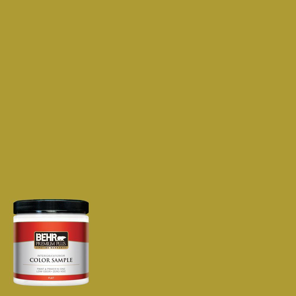 BEHR Premium Plus 8 oz. #P330-7 Luscious Lime Interior/Exterior Paint Sample