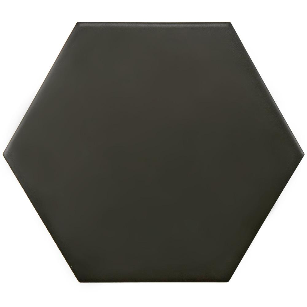 Merola Tile Hexatile Matte Nero 7 in. x 8 in. Porcelain Floor and Wall Tile (2.2 sq. ft. / Pack)
