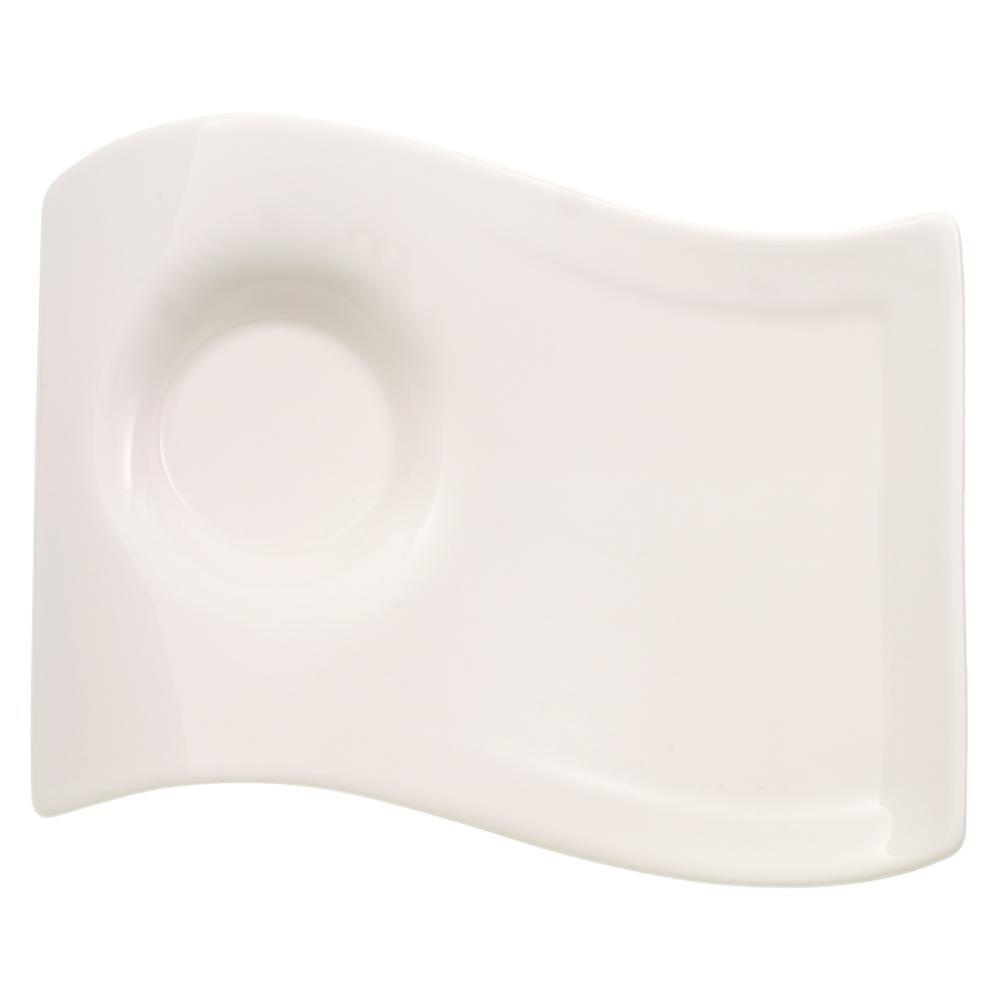 New Wave Caffe White Porcelain Large Party Plate
