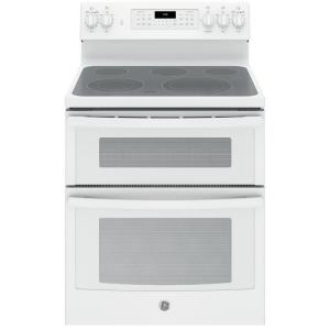 double oven electric range with convection oven