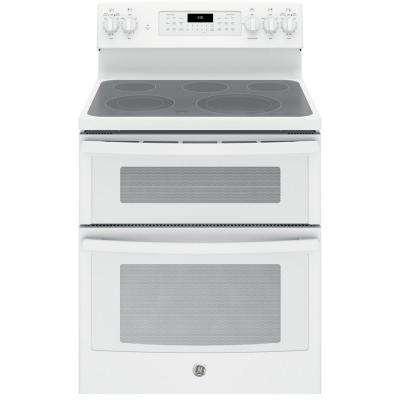white electric range. 6.6 Cu. Ft. Double Oven Electric Range White Electric Range N