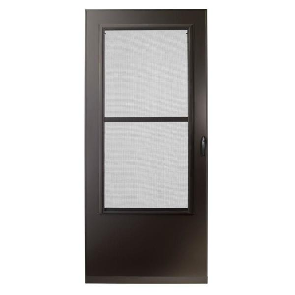 32 in. x 80 in. 200 Series Bronze Universal Triple-Track Aluminum Storm Door