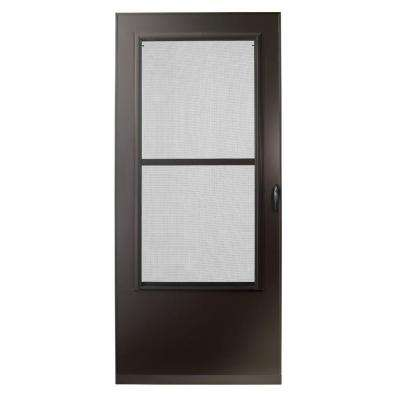 36 in. x 80 in. 200 Series Bronze Universal Triple-Track Aluminum Storm Door
