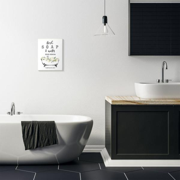Stupell Industries Fresh Soap And Water Bath Tub Bathroom Design By Lettered And Linedwood Abstract Wall Art 15 In X 10 In Wrp 1398 Wd 10x15 The Home Depot