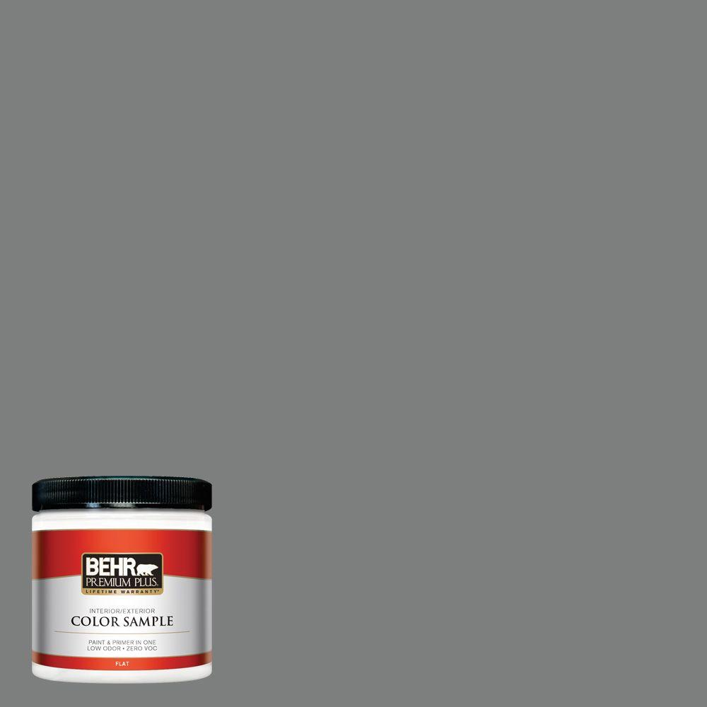 8 oz. #6795 Slate Gray Flat Zero VOC Interior/Exterior Paint and