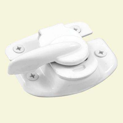 Window Sash Lock and Keeper, Cam Action, White