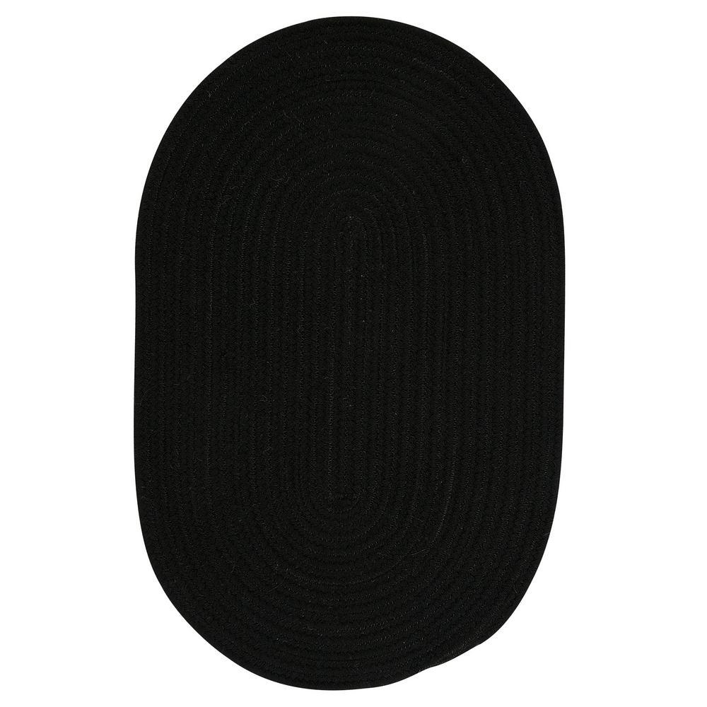 Edward Black 7 Ft X 9 Braided Oval