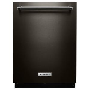 KitchenAid Top Control Built-In Tall Tub Dishwasher in Black Stainless with... by KitchenAid