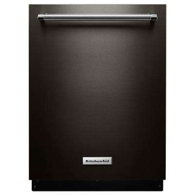 Top Control Built-In Tall Tub Dishwasher in Black Stainless with Stainless Steel Tub