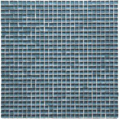 Atlantis Dorado Blue 11-3/4 in. x 11-3/4 in. x 6.35 mm Polished Glass Mosaic Wall Tile (9.58 sq. ft. / case)