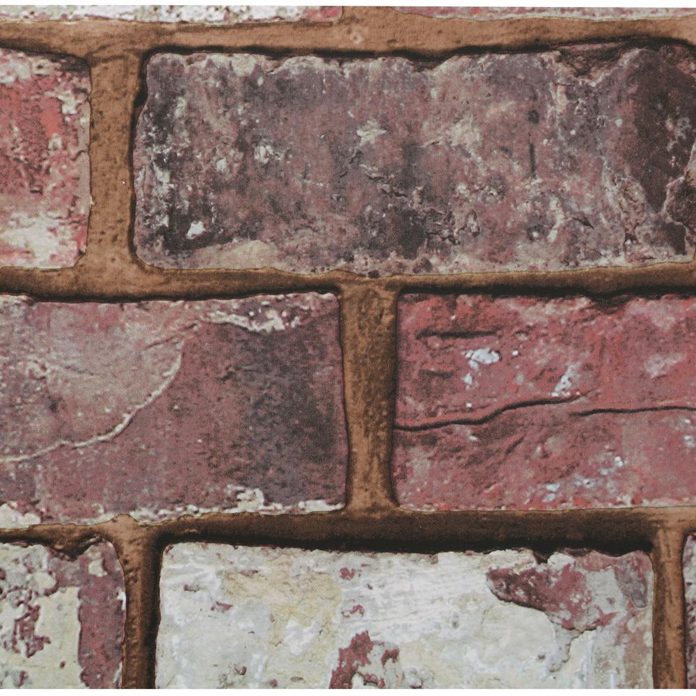 56 sq. ft. Brick Red Wallpaper