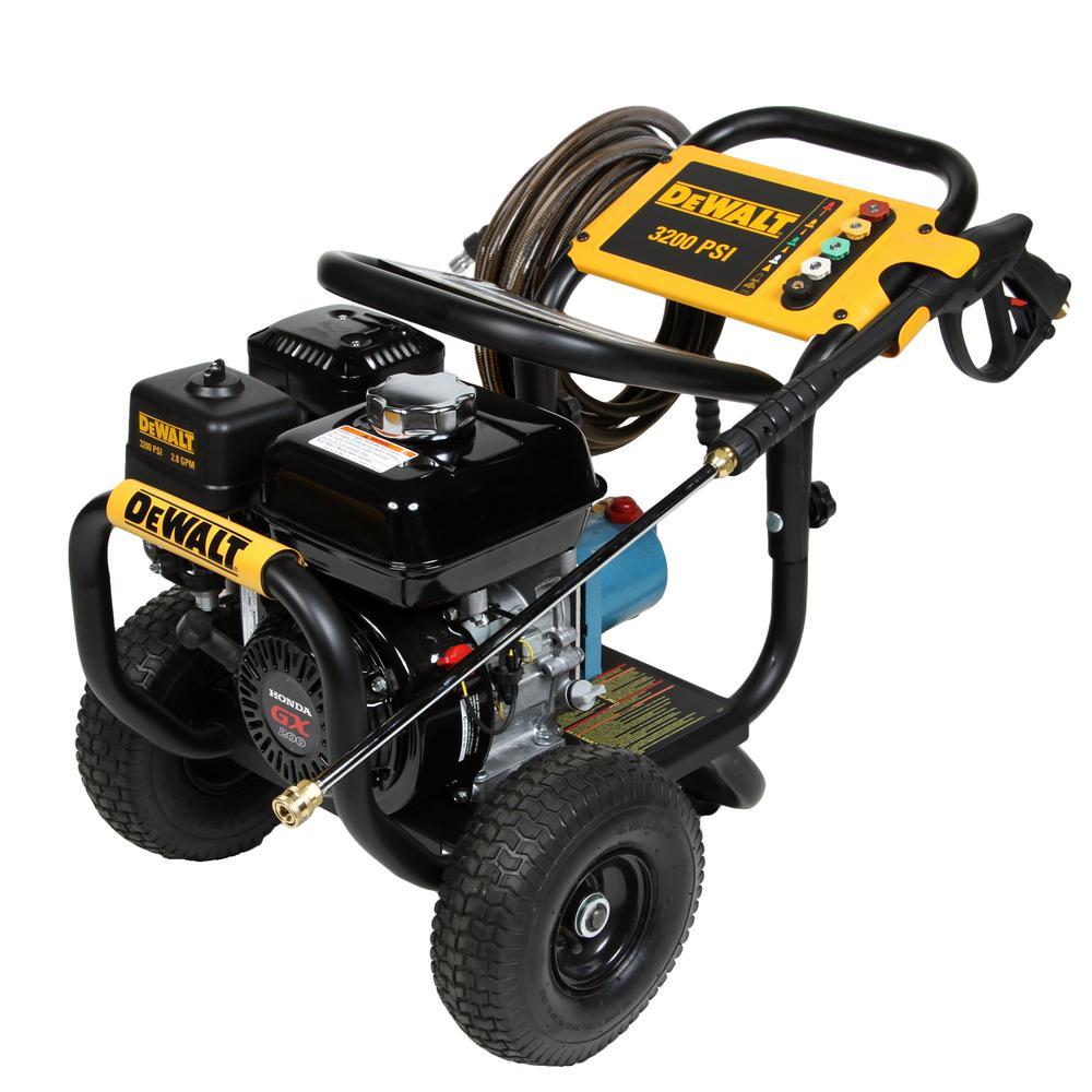 DeWalt DXPW60603 3200 PSI at 2.8 GPM Honda GX200 OHV Gasoline Pressure Washer